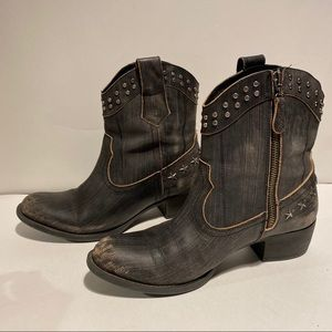 Guess Studded western cowgirl ankle boots